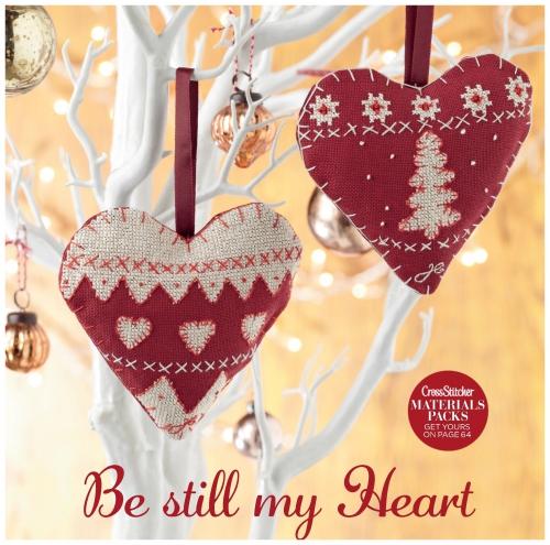 Новогодние подвески сердечки