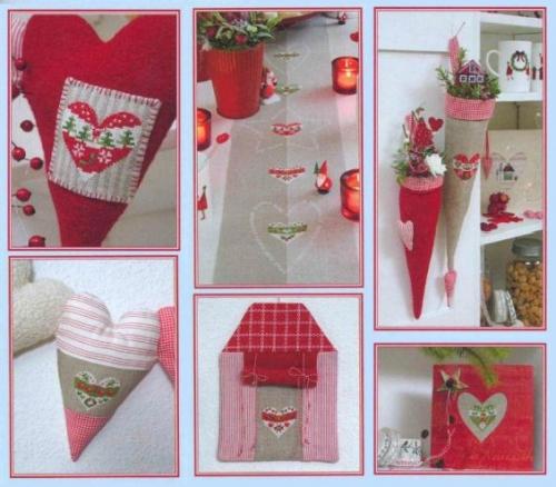Сердечки. Подборка схем для новогодней вышивки