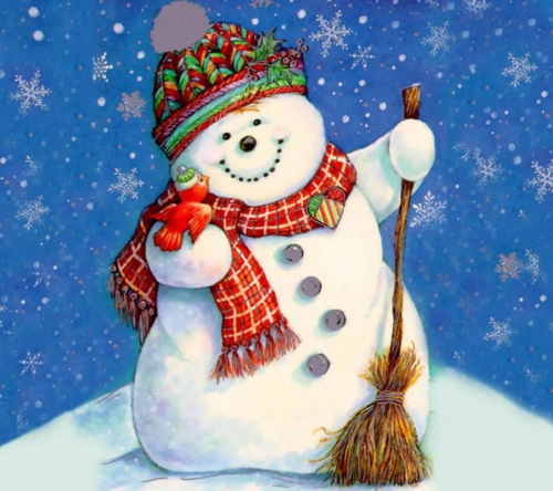 Снеговики. Подборка схем для вышивки крестом