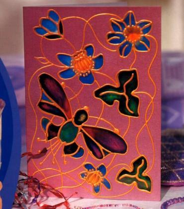 Открытка с бабочками