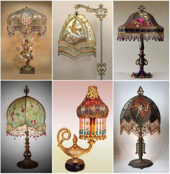 Лампы с шикарными абажурами