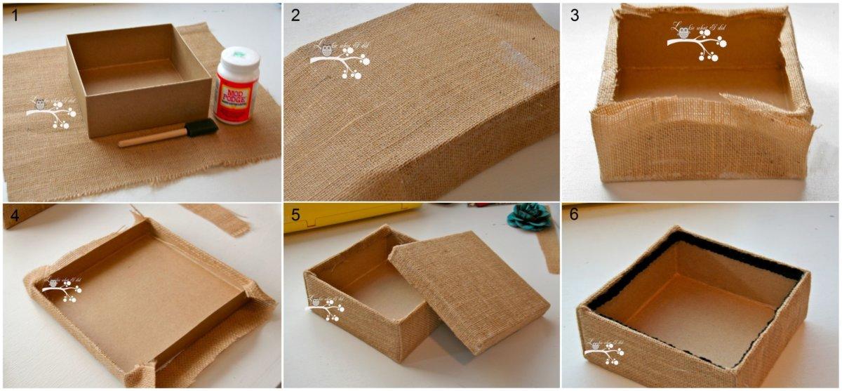 Превращаем обычную коробку в оригинальную шкатулку