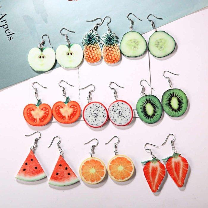 Сережки с фруктами