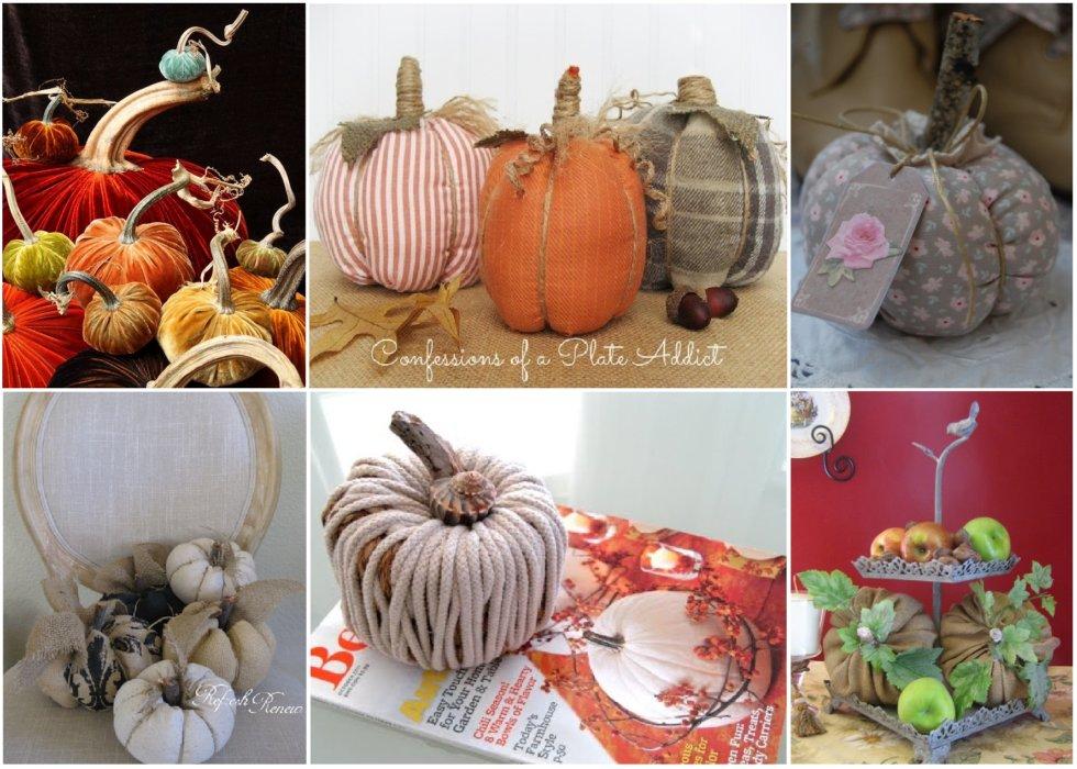 Текстильные тыковки. Подборка идей к Хеллоуину
