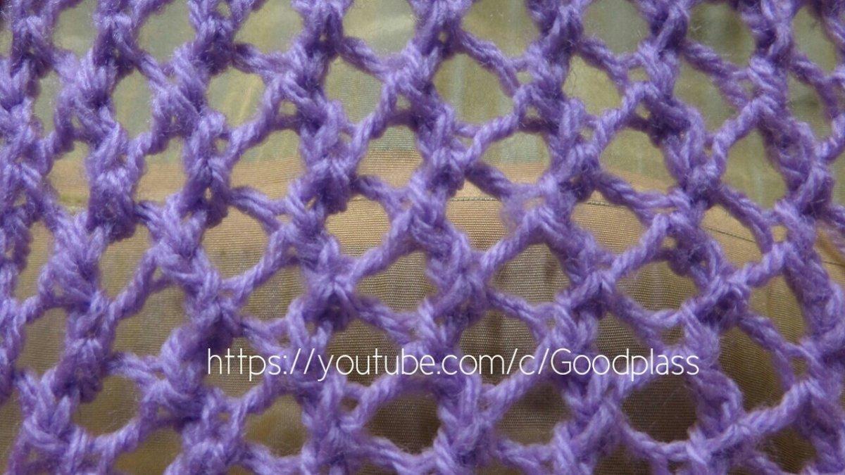 Вяжем узоры с сеткой