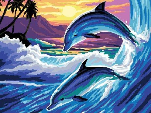 Картина «Дельфины»