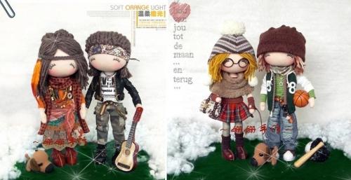 Милейшие текстильные куколки
