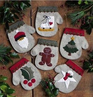 Новогодние рукавички. Подборка + выкройки
