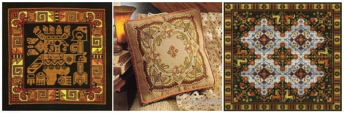 Подборка схем для вышивки подушек